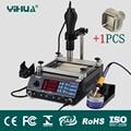 110V/220V EU/US PLUG 853AAA 650W SMD Hot Air Gun+60W Soldering Irons+500W Preheating Station 3 Functions in 1 Bga Rework Station