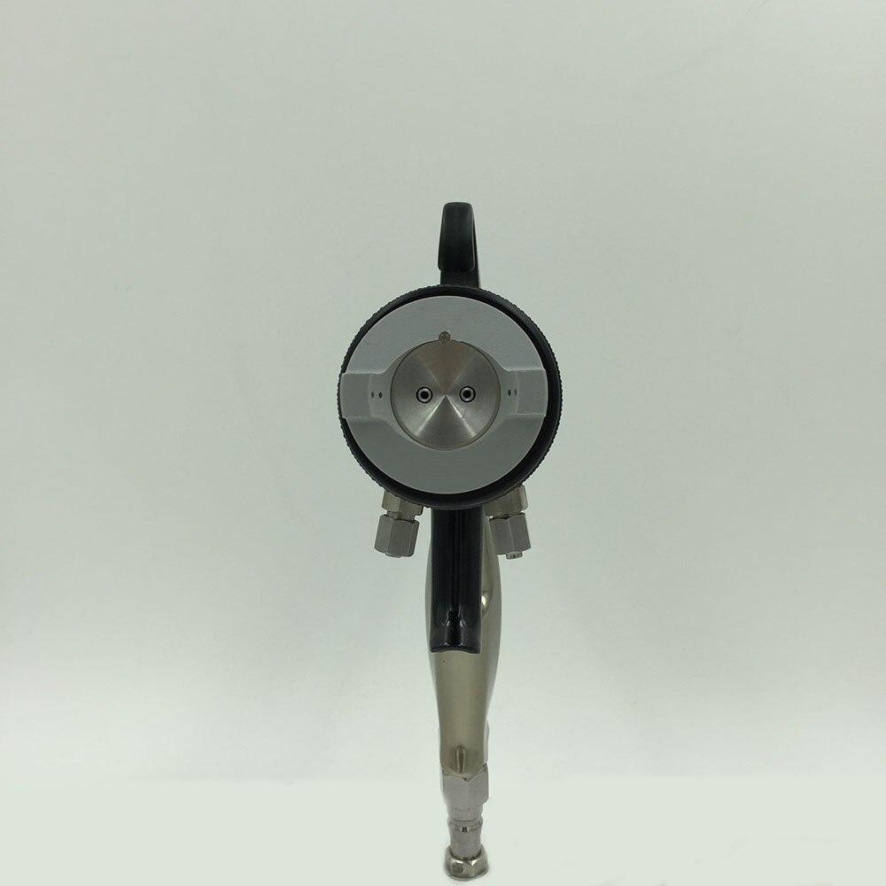 SAT1205 pneumatic chemical gun air spray gun for painting walls high pressure double nozzle silver mirror chrome plate paint gun