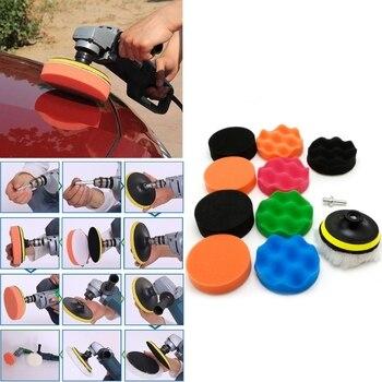 цена на New 11 Pcs 3/4/5/6/7 inch Auto Car Buffing Sponge Polishing Pad Kit Set For Car Polisher Buffer High Quality