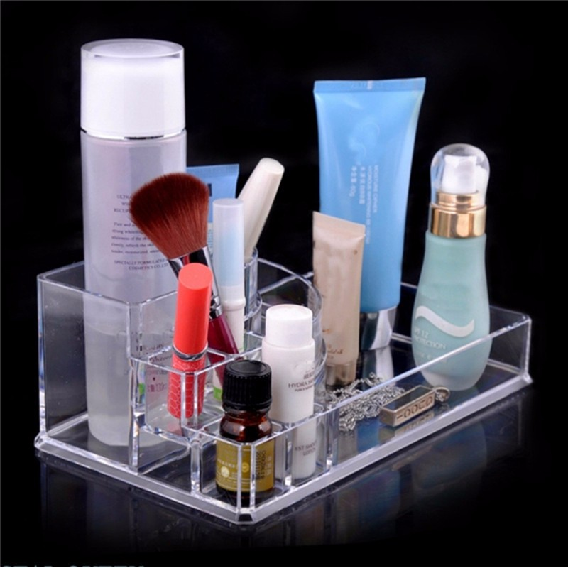 clear make up acrylic box bin lipstick organiser multifunction font cosmetic jewelry mirror stand walmart standing canada