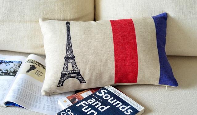 Париж подушка наволочки кресла подушки потертый шик интерьер