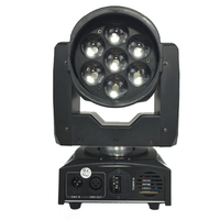 4pcsXlot led stage lighting 7 X15W rgbw full color led moving head zoom wash stage light get show dj equipment for disco bar ktv