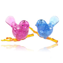 Torvi Cube T  3d crystal puzzle dove or bird orange and blue Children's educational toys A birthday present for kids