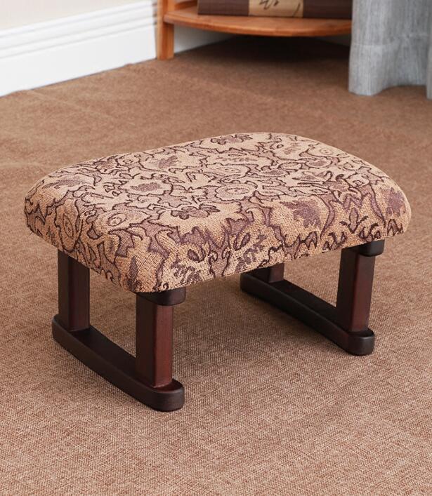 Fixed Legs Zen Meditation Bench Stool Portable Wood Yoga