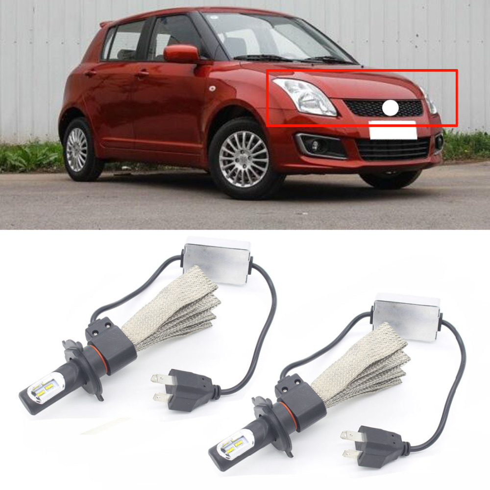 News Auto Headlight For Suzuki Swift 2005 - 2013 H4 30W 6000K LED Car Head Fog Light External Light Source 9V-30V Xenon 1Set беспроводное устройство news billiton a70 2 4 m217