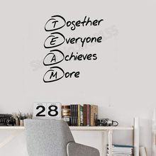 YOYOYU Wall Decal Team Building Quote Stickers Office Art Decor Removable Modern Mural Vinyl Style DIY ZW332