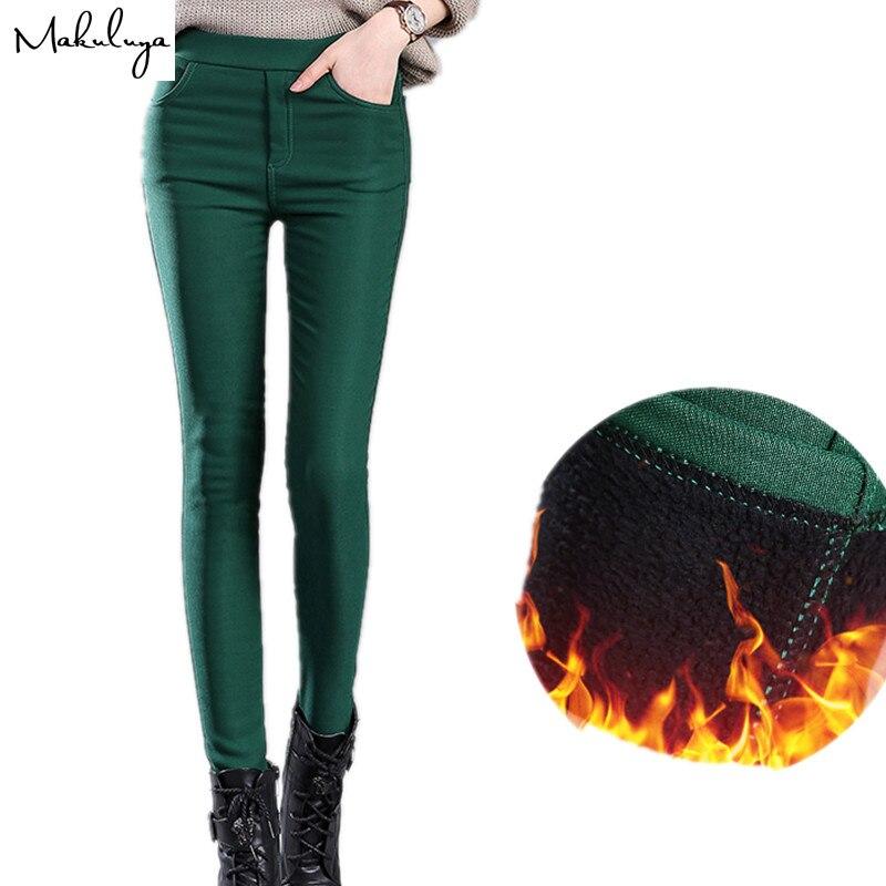 Makuluya 2019 Autumn Winter Thickening Women Leggings Cotton Fur Lock Hot Lady Leggings Pencil Keep Warm 4xl Plus Size Legging