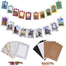 Фоторамка из крафт-бумаги для картин, подвесная рамка для свадебных стен, вечерние реквизиты для фото