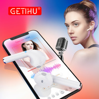 GETIHU Sport Wireless Earphone Phone Headset In Ear Buds Headphones Mini Bluetooth Earphones Earpiece For IPhone