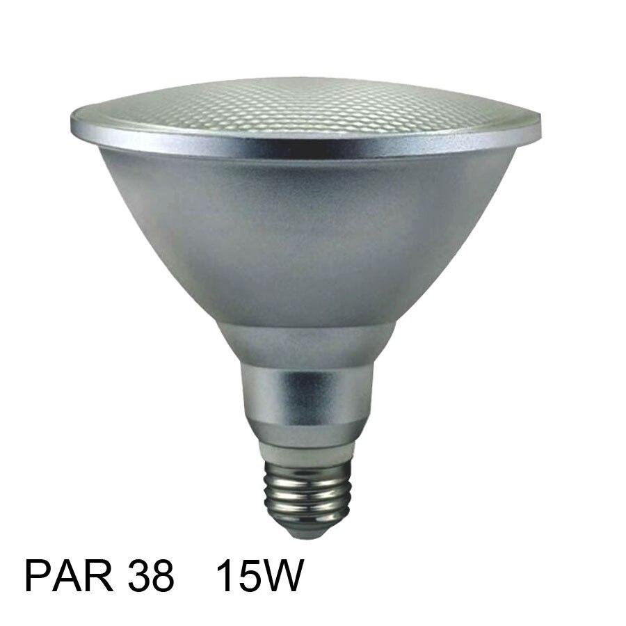 15 W E27 PAR38 impermeable al aire libre IP65 LED PAR 38 Spot bombilla lámpara interior luces AC 110 V 220 V 15 W caliente blanco frío Lampad