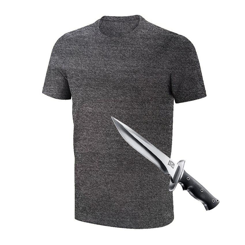2019 Anti couteau résistance auto-défense couverture Anti coupe vêtements pour la sécurité Anti coupe t-shirt Protection lui-même Anti coupe t-shirt
