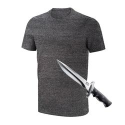 2019 antipuñalada resistencia autodefensa encubierta anticorte ropa para la seguridad Anti corte camiseta protección en sí mismo Anti corte T camisa