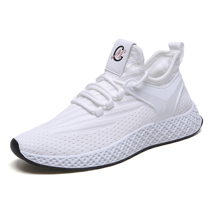 2019 Spring Autumn Fashion Men's Casual Shoes White Bottom Male Footwear Air Mesh Breathable Adult Sneakers Size 44