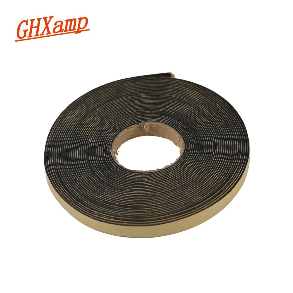 GHXAMP 2 Meter 10*1MM EVA Speaker Repair Sealing Strip Loudspeaker Black Single-sided Plastic Shockproof Absorber Gasket Seal
