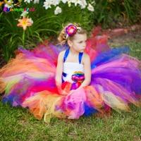 Handmade Flower Girl Dress Fluffy Tulle Tutu Dress For Wedding Photo Birthday Christmas Party Kids Summer