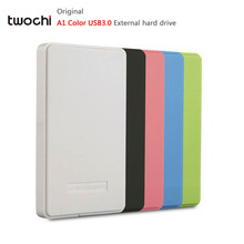 TWOCHI A1 5 Color 2.5'' External Hard Drive 120GB/160GB/250GB/320GB/500GB USB3.0 Portable HDD Storage Disk Plug and Play On Sale
