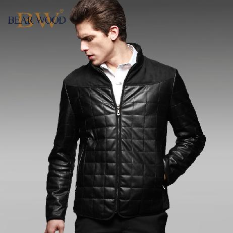 Black stand collar England 1 thicken warm short down-jacket men coat duck down jacket winter mens jackets and coats 2XL