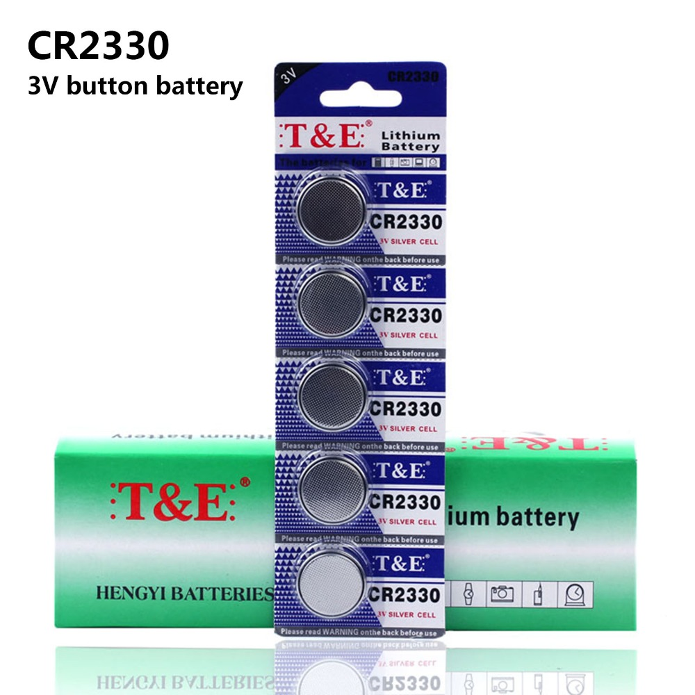 50PCS/10Pack CR2330 Button Batteries BR2330 ECR2330 Cell Coin Lithium Battery 3V CR 2330 For Watch Electronic Toy Remote image