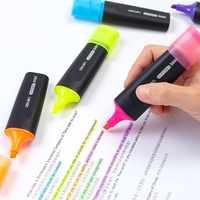 Textmarker Marker Verschiedene Farben Groß Leuchtstoff Highlighter Marker Stifte Pack von 6 Farbe Meißel Spitze Gelb Blau Grün Rosa