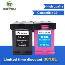 Obestda 301XL Refill Ink Cartridge Replacement for HP 301 xl for hp 301 cartridger for Deskjet 1010 1510 1512 1514 2050A 2540