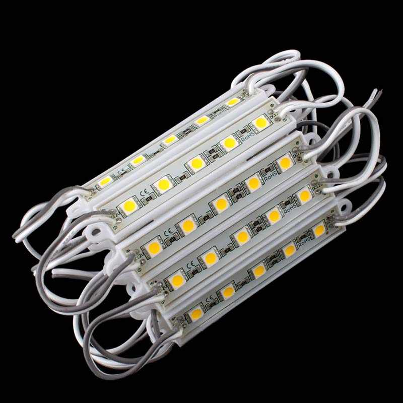Светодио дный 5 SMD 5050 Светодиодный модуль свет водостойкие жесткие полосы бар свет лампы 12 V 5 цветов #58338