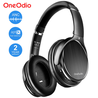 Oneodio Active Noise Cancelling Wireless Bluetooth Headphone With Microphone Apt X Low Latency ANC Headset For Phone Travel