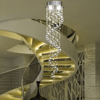 US shipping! Crystal Spiral Pendant Light Size Dia25*H100CM Lamp Ceiling Rain Drop