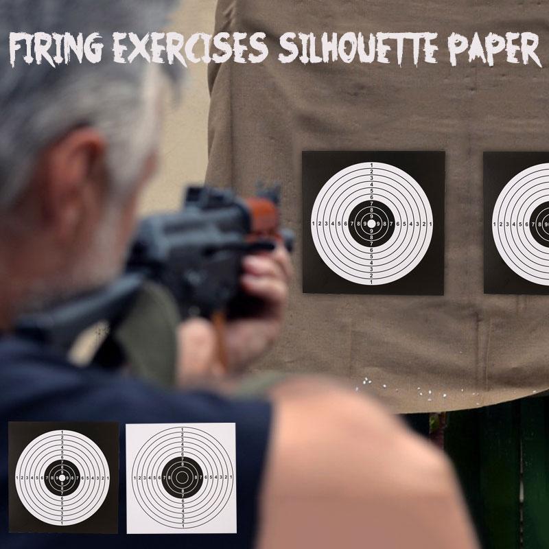 100 шт 14 см мишени для стрельбы бумажная наклейка черный белый Высокое качество Пневматическая винтовка пистолет мишени для стрельбы Пейнтбол Аксессуар