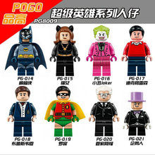 PG8009 Super Hero Batman/Catwoman/Joker/Dick Grayson Minifigure Building Block Bricks Toys Action Figure Compatible with Legoe