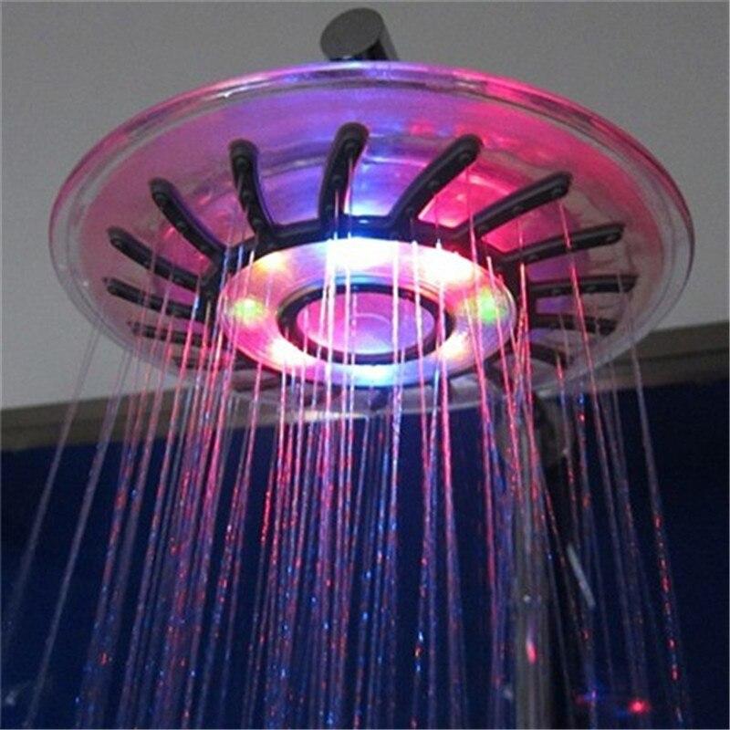 New Romantic 4 Mixed-color Colorful LED Shower Head Bathroom Sprinkler Salle de bains douche Hot Sale