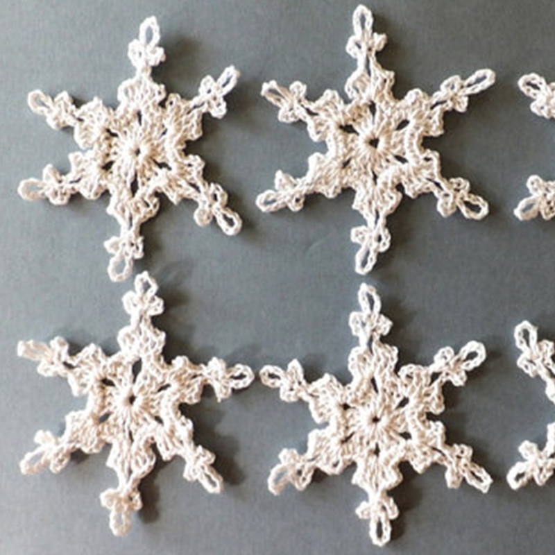 apliques de ganchillo de los copos de nieve copos de nieve de navidad adornos adornos de