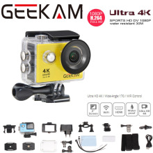 GEEKAM V9/V9R 4k UItra WIFI Action Camera 1080P HD/30fps 2.0 LCD 170D lens Go Waterproof Mini Cam Bike Outdoor Dv Sport Camera