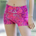 Professional yoga women shorts Sports short training fitness running Geometric printing compression women's gym shorts
