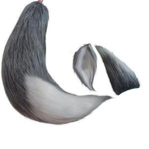 Image 2 - Grau Anime Spice und Wolf Cosplay Headwear Wolf Tails Halloween Cosplay Zubehör Wolf Ohren Bühne Zeigen Requisiten Für Mädchen Unisex
