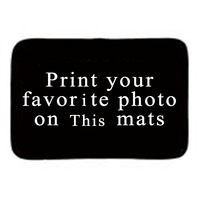 Personalized Home Entrance Door Mats With Photo And Text Custom Gift Floor Mats Bathroom Mats For Home Office 40x60cm 45x75cm