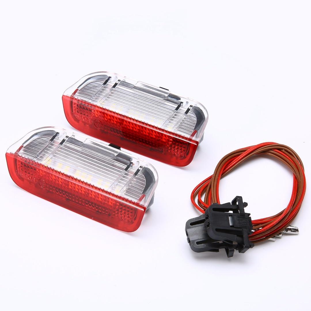 Mayitr 2pcs LED Side Door Light Courtesy Lamp For VW Golf Jetta Passat B6 B7 GTI MK5 MK6 2x canbus no error t10 parking side led width lamp light bulb for volkswagen vw polo golf 5 6 7 gti passat b5 b6 jetta mk5 mk6