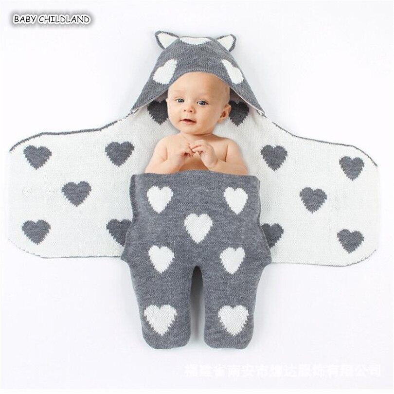 bebe swaddle envoltorio cobertor cobertores do bebe recem nascido de croche malha respiravel com capuz bebe
