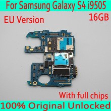Original unlocked For Samsung Galaxy S4 i9505 Motherboard with Android System,16GB for Galaxy S4 i9505 Mainboard with Full Chips