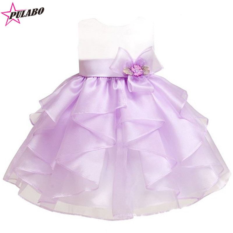 49f135af2 2018 New Baby Girl Dress Vintage Baby Christening Dresses Big Bow ...