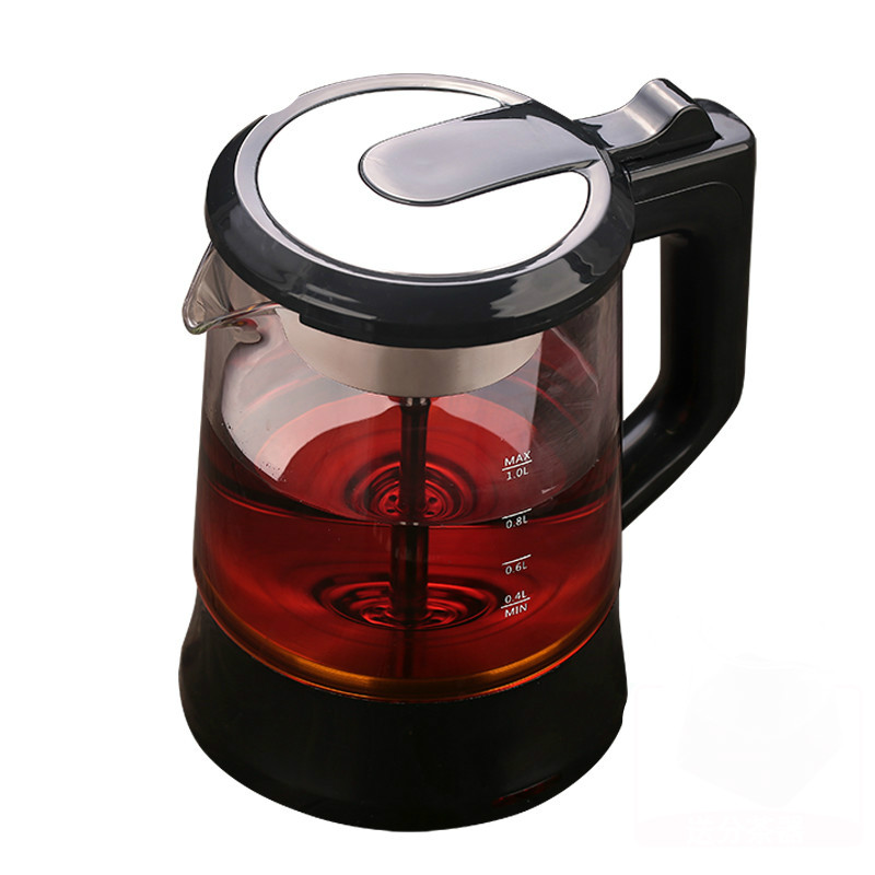 Electric kettle Brew tea pot black pu 'er glass electric steam teapot automatic heat preservation kett brew tea pot black electric pu er automatic glass raised teap