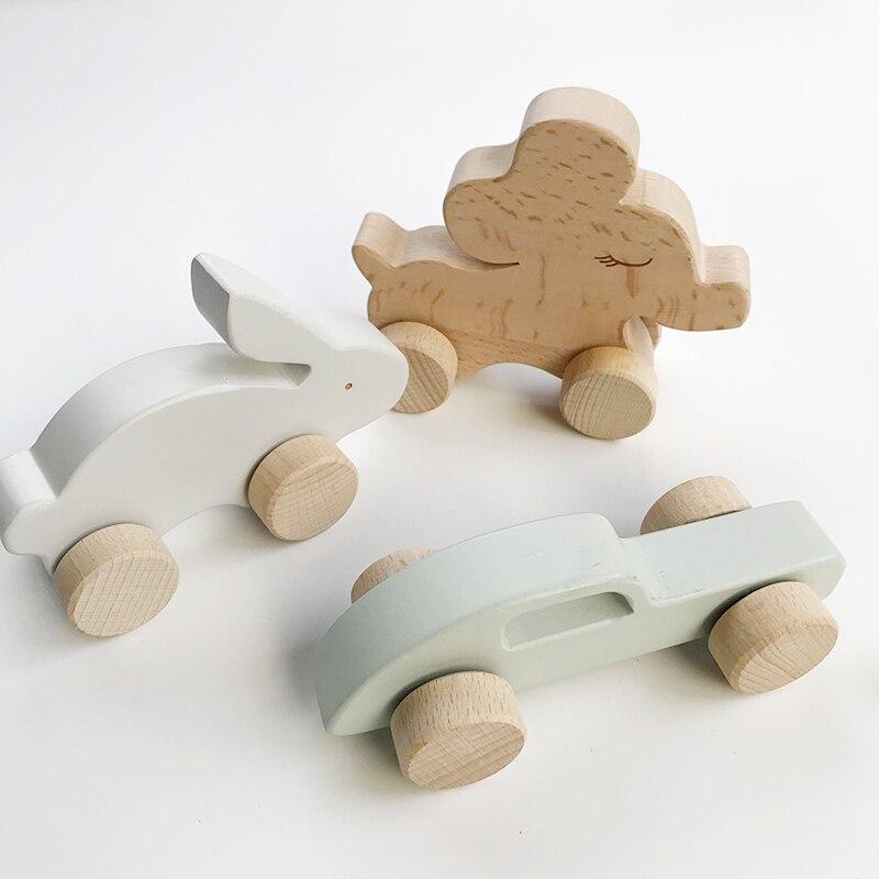 BBK garçon bois massif jouet entraîneur bébé tracteur Animal voiture jouet anneau à main Suzuki enfants bois jouet