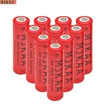 Recarregável para Lanterna de Acampamento Mjkaa 10 Pçs e lote 18650 Bateria 3.7 V 6800 MAH Li-ion Caminhadas Batteria