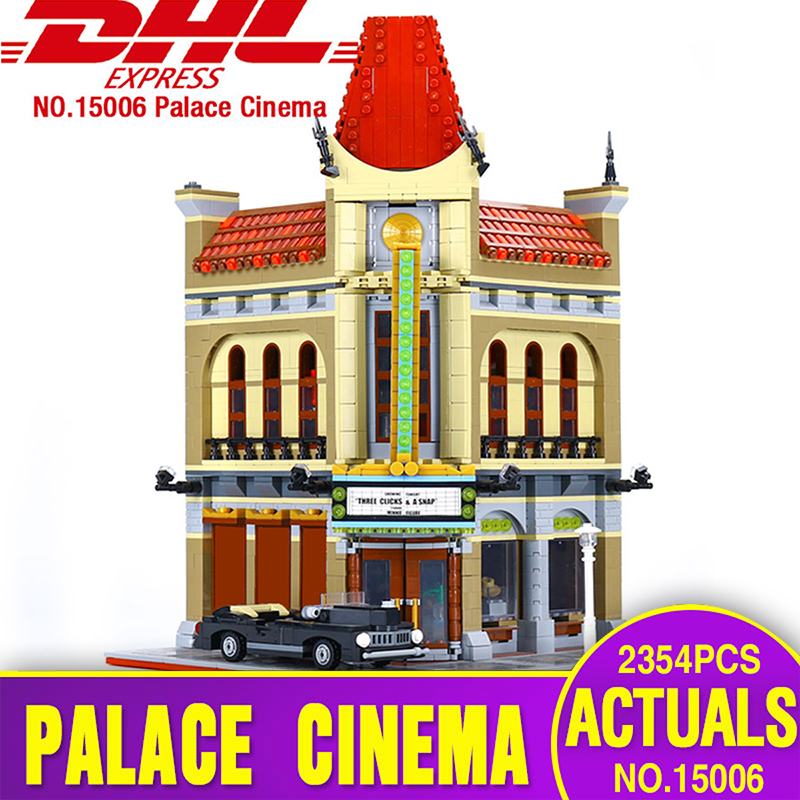 Pesale LEPIN 15006 2354pcs Palace Cinema Model Building Blocks set Bricks Toys Compatible with Legoing 10232 for children Gift new lepin 16009 1151pcs queen anne s revenge pirates of the caribbean building blocks set compatible legoed with 4195 children