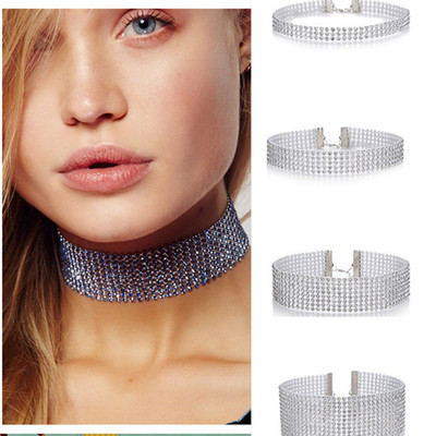 Gothic Luxury Crystal Choker Necklaces Charms Rhinestone Neckless Chocker For Women Wedding Jewelry Collares Femme