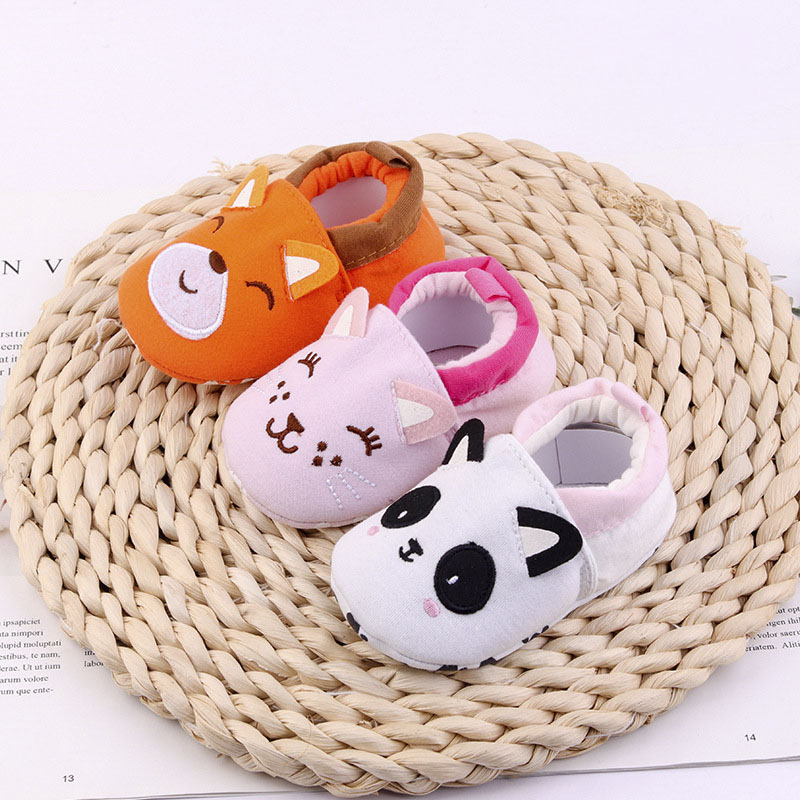 Hot Baby Cartoon First Walkers Boys Girls Kawaii Shoes Soft Non-Slip Sole Toddlers Lovely Footwear 0-18M Infants Newborn Shoes