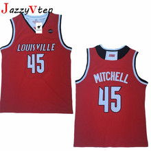 ee77078e20d JazzyVten Retro Donovan Mitchell #45 Louisville Cardinals college  basketball jersey all size Embroidery Stitched 3COlors. 3 Colors Available