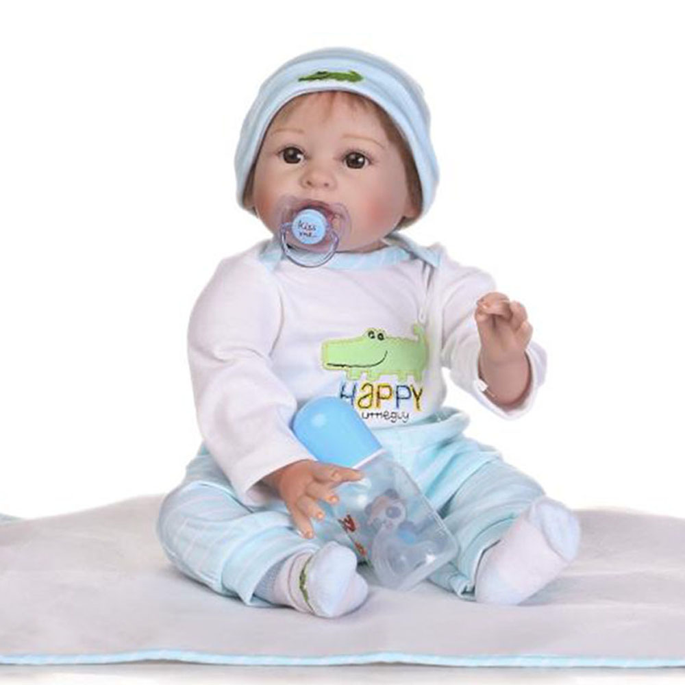 NPK Handmade 55 cm Babies Reborn Dolls Soft Silicone Vinyl Body 22'' Realistic Baby Born Doll Fashion Hot Sale Boy Birthday Toys