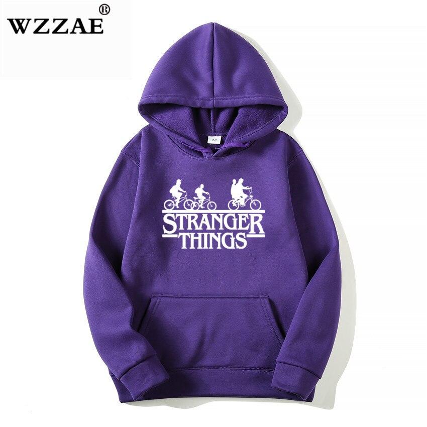 Trendy Faces Stranger Things Hooded Hoodies and Sweatshirts 26
