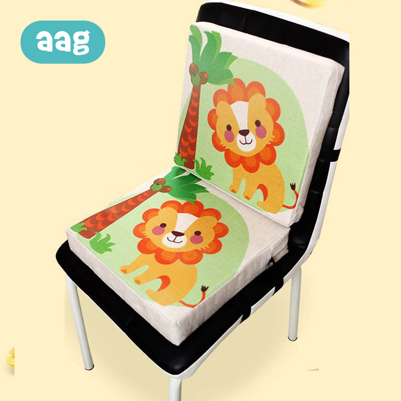 AAG Children Increased Chair Pad Child Dining Cushion Adjustable Removable Chair Booster Seat Cushion Pram Chair Highchair Pad