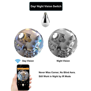 Image 4 - Kruiqi Wifi IP Camera 1080P Bulb led Light 360 degree Wi fi Fish eye CCTV Camera 2MP Home Security WiFi Camera Panoramic camera